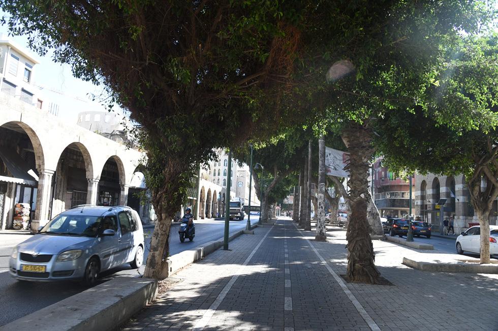 אופנה חולפת? דווקא השדרה הוותיקה מכולן, שדרות ירושלים ביפו, נלחמת על עתידה מול תוכניות הרכבת הקלה (צילום: יאיר שגיא)