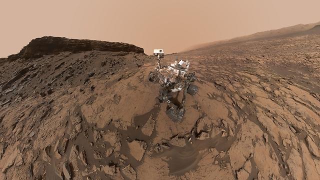 """קריוסיטי על מאדים. ארכיון (צילום: נאס""""א)"""