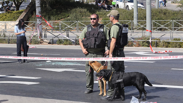 Security arrive at the scene of the attack (Photo: Gil Yohanan) (Photo: Gil Yohanan)