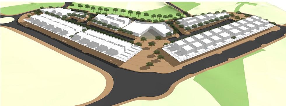 """הדמיית מרכז התעסוקה ביישוב אל סייד בהיקף 60 דונם (הדמיה: מנספלד-קהל אדריכלים בע""""מ) (הדמיה: מנספלד-קהל אדריכלים בע"""
