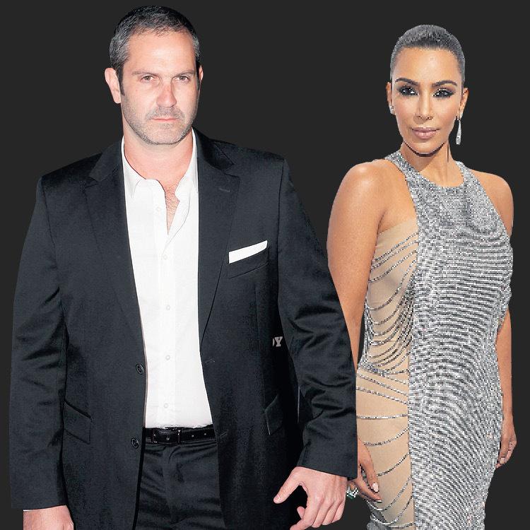 Kim Kardashian and body guard Aaron Cohen