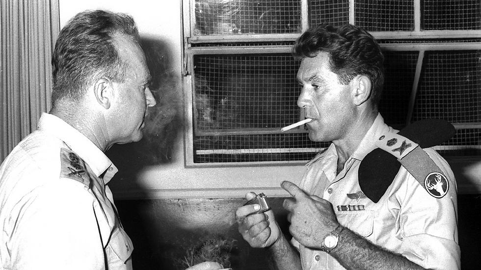 Рабин и Элазар, август 1966. Фото: Дан Хенди