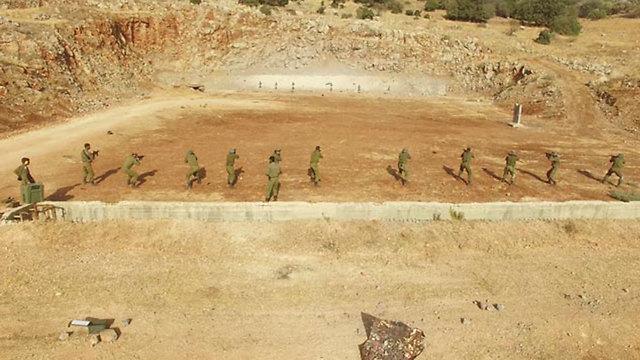 """הרחפן מתעד את מטווחי לוחמי גולני בהר דב (צילום: דובר צה""""ל)"""