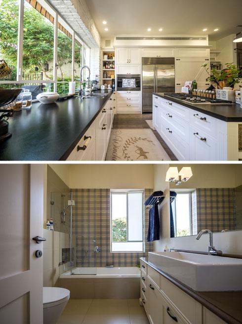 הקפדה על כל פינה. המטבח וחדר האמבטיה (צילום: איתי סיקולסקי)