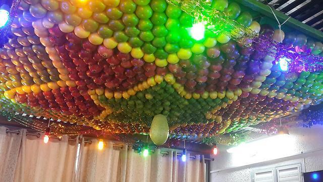 Inside of a Samaritan Sukkah (Photo: Asaf Kemer) (Photo: Asaf Kemer)