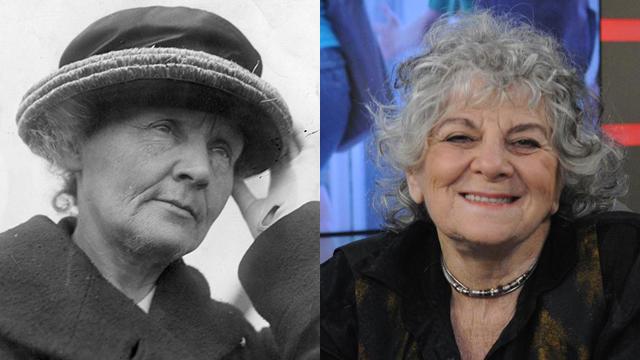פרופ' עדה יונת (כימיה 2009) ופרופ מארי קירי (כימיה 1903, פיזיקה 1911) (צילום: Gettyimages, ירון ברנר) (צילום: Gettyimages, ירון ברנר)