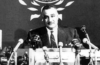 Egyptian President Gamal Abdel Nasser during the 1965 Arab League conference in Casablanca.