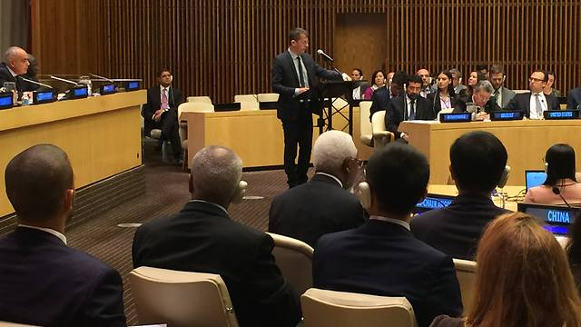 B'Tselem Executive Director Hagai El-Ad speaking at the UN Security Council.