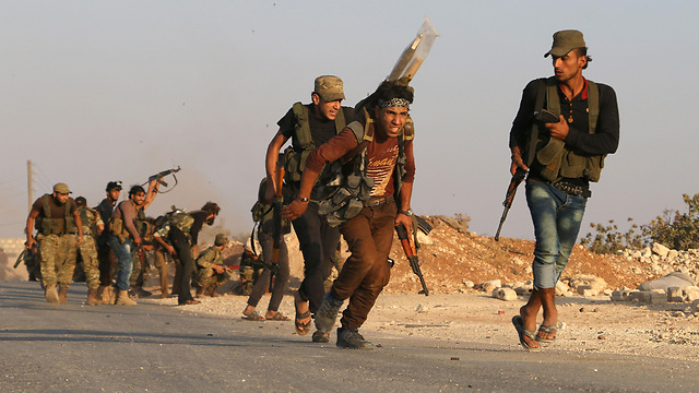 Free Syrian Army (FSA) fighters in Dabiq. (Photo: AFP)