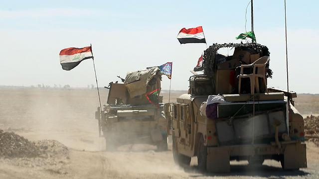 כוחות צבא עיראק יוצאים למבצע לשחרור מוסול (צילום: AFP) (צילום: AFP)