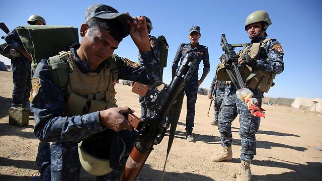 לפני הכיבוש של מעוז דאעש בעיראק (צילום: AFP) (צילום: AFP)