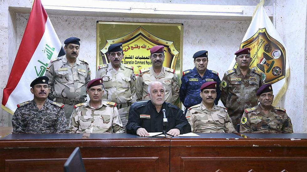 ינסה לרכוב על הישגיו הגדולים. אל-עבאדי מודיע על המבצע לשחרור מוסול (צילום: AFP) (צילום: AFP)