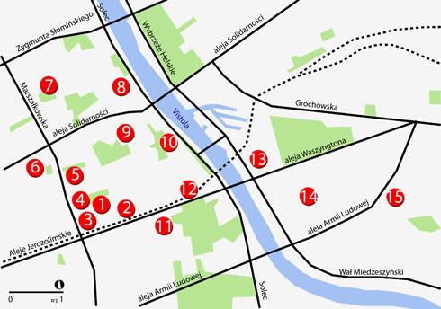 מפה סכמטית למיקום אתרי הסיור