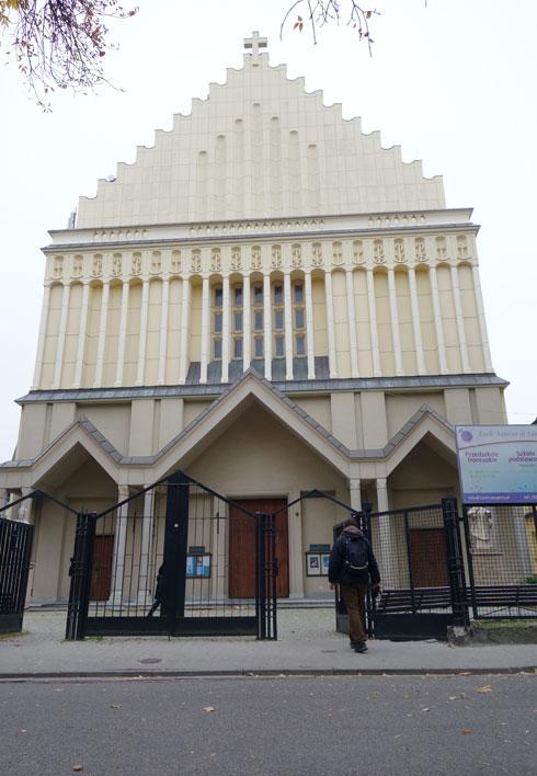 בניית הכנסייה המרהיבה החלה עוד בשנות ה-30. לאחר מלחמת העולם השנייה היא עוצבה מחדש  (צילום: מיכאל יעקובסון)