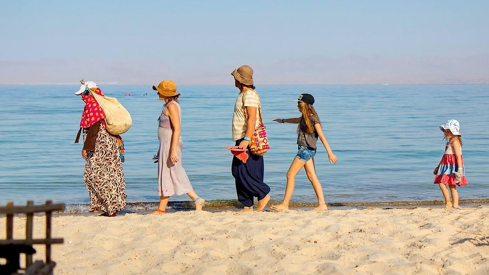 Israeli tourists in Sinai (Photo: Sharon Gabai)