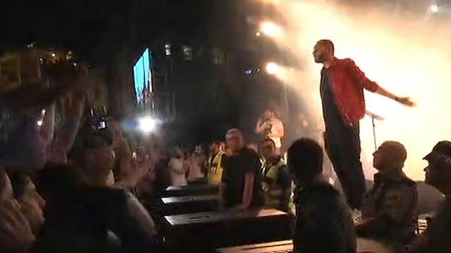 Nafar performing in Haifa (Photo: Ido Erez)