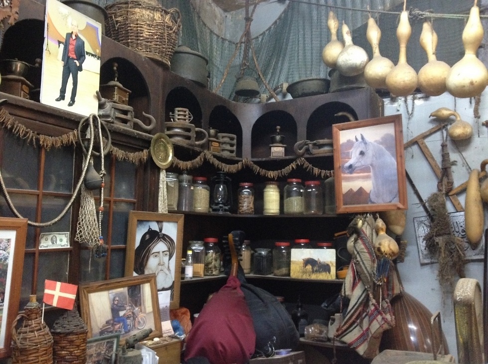 """אפלולי. חנות התבלינים """"חמודי וכורדי"""" (צילום: לין לוי) (צילום: לין לוי)"""
