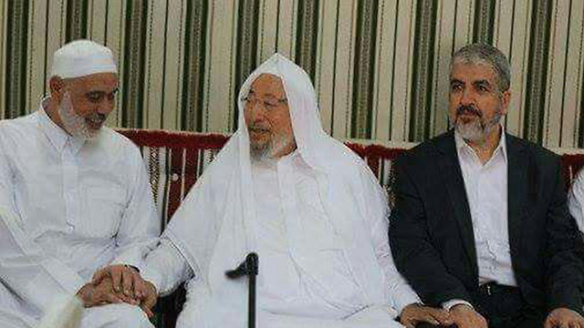 Шейх с лидерами ХАМАСа
