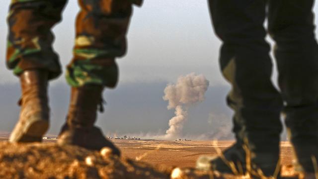 הלחימה באזור הג'ין נמשכת. לוחמים כורדים (צילום: AFP) (צילום: AFP)