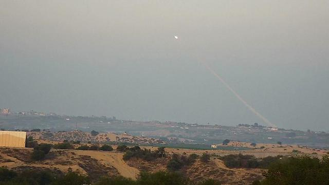 Hamas rocket darts across the sky for Israel' southern residents to view