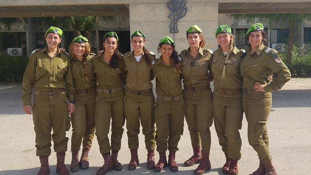 The IDF's newest female combat officers (Photo: IDF Spokesperson)