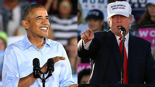 Presidents Obama and Trump
