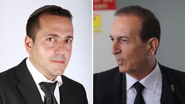 עורכי הדין אלי כהן ואפרים דמרי (צילום: מוטי קמחי, שרון סרור)