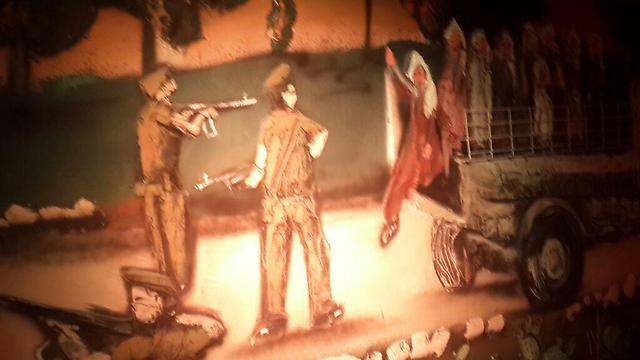 בין הציורים שמוצגים בתערוכה לציון 60 שנה לטבח ()