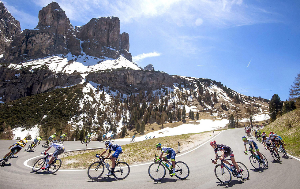 Giro d'Italia at the Dolomites mountain range in Italy (Photo: EPA)