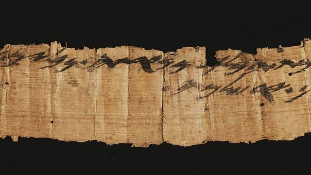 The rare, discovered scroll (Photo: Shai Halevi, Courtesy of Israel Antiquities Authority)