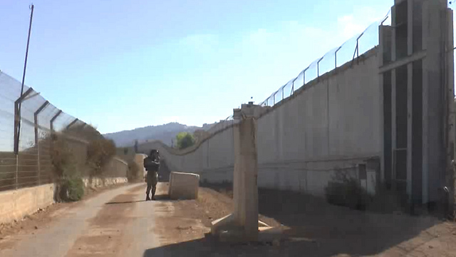 The obstacle on the northern border. The only semi-explosive element in the region  (Photo: Avihu Shapira)