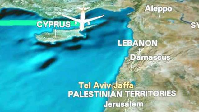 Israel marked as 'Palestinian Territories.'