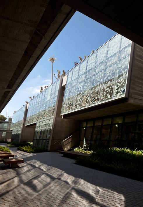 חדש מול ישן. הספרייה באוניברסיטת חיפה (צילום: עמית גרון)