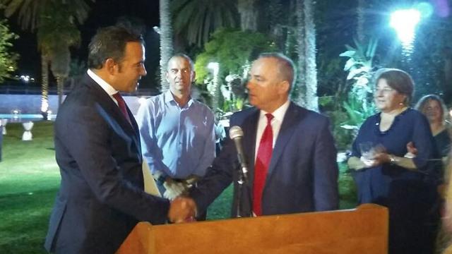 Energy Minister Steinitz at the Turkish Embassy