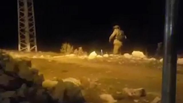 The scene of Saturday's shooting attack (Photo: Judea and Samaria Search and Rescue)