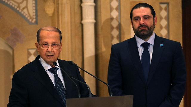 Lebanon's new president, Aoun, and expected prime minister al-Hariri (Photo: AP)