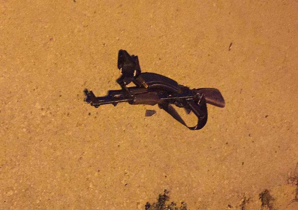 The Kalashnikov used by the terrorist in the attack