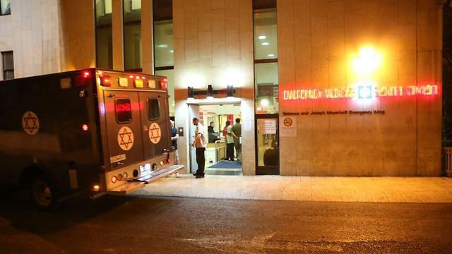 שני הפצועים קל פונו לבית החולים הדסה עין כרם (צילום: הלל מאיר/TPS) (צילום: הלל מאיר/TPS)