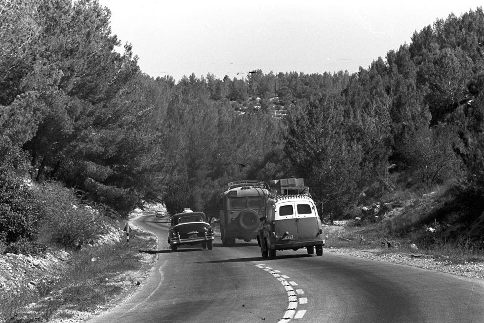 בין הרים, גאיות ויערות: העלייה לירושלים נראתה כמו דרך קסומה באירופה עד סוף שנות ה-70 (צילום: דוד רובינגר)