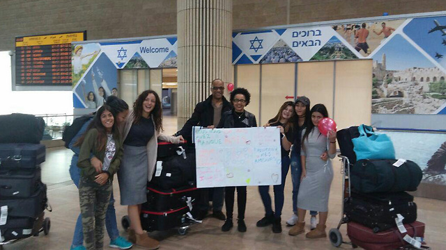 A French Jewish family arrives in Israel (Photo: The International Fellowship of Christians and Jews)