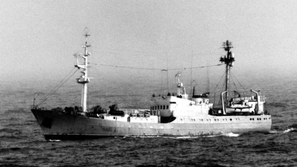 Soviet navy's reconnaissance ship Kursograf