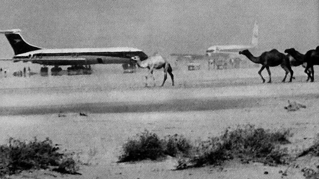 Two of the planes the PFLP hijacked to Dawson's Field in November 1970