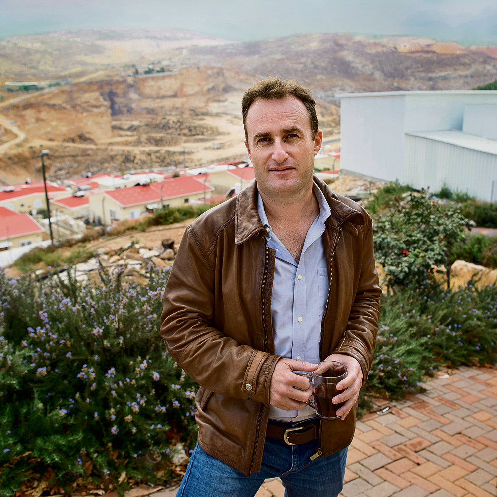 Yaakov Berg near the Migron winery, last week. A Jew seeking to evacuate other Jews? (Photo: Amit Shabi)