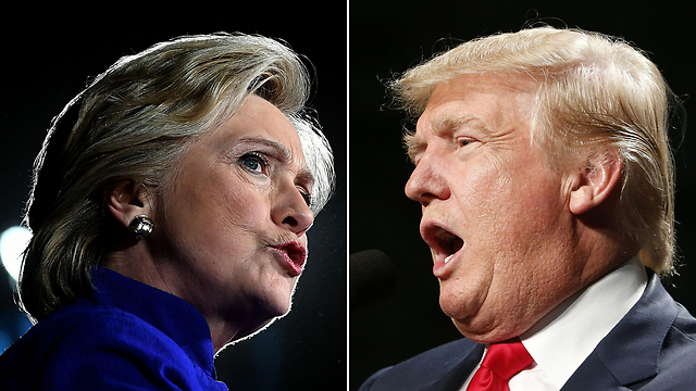 אדיבות של מנצחים. טראמפ וקלינטון (צילום: AFP) (צילום: AFP)