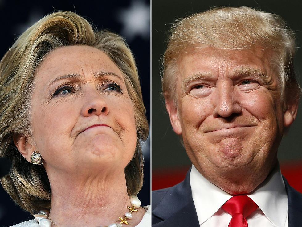 טראמפ וקלינטון. לא רק הם מתמודדים (צילום: AFP) (צילום: AFP)