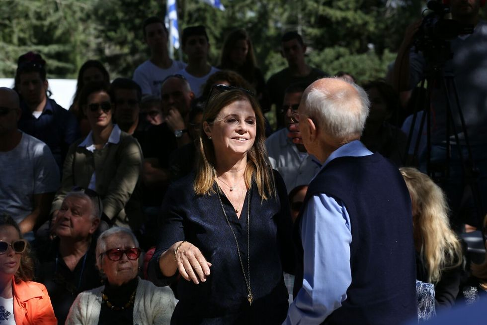 דליה רבין וצבי זמיר (צילום: אוהד צויגנברג) (צילום: אוהד צויגנברג)