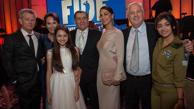 Haim Saban with wife Cheryl, Moran Attias, and David Foster (Photo: Alexi Rosenfeld)