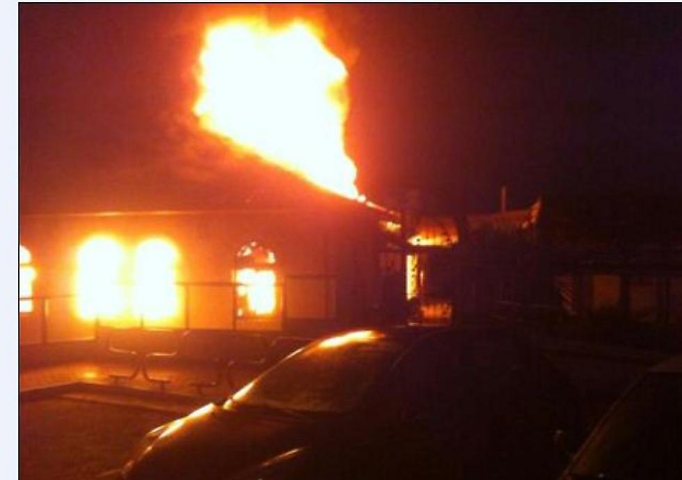 The burning synagogue (Photo: Eli Shema)