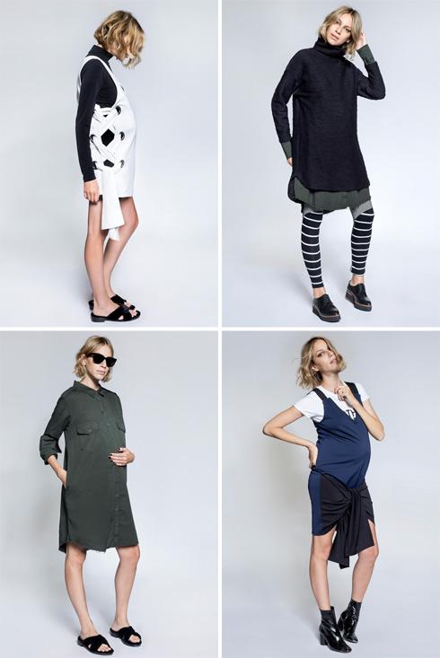 """""""חולצות מעטפת - לא בבית ספרי"""". קולקציית בגדי ההיריון עם אבישג ארבל  (צילום: דנה קרן)"""