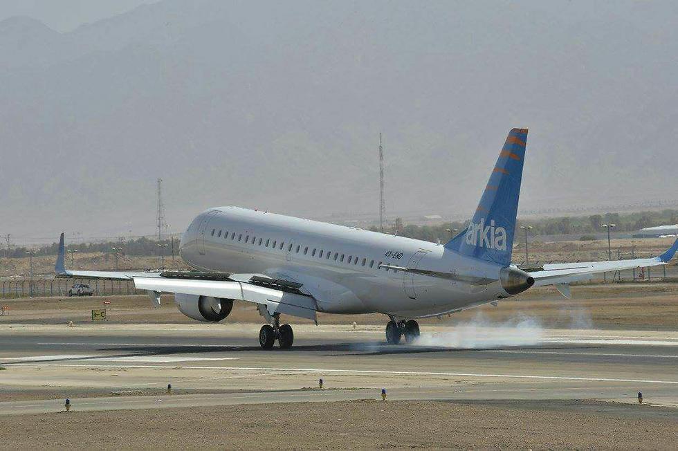 מטוס מהדגם שכמעט היה מעורב בתאונה. ארכיון  (צילום: יאיר שגיא) (צילום: יאיר שגיא)